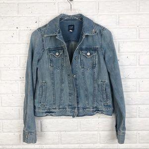 GAP Distressed denim jean jacket
